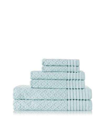 Espalma Diamonds 6-Piece Towel Set, Surf