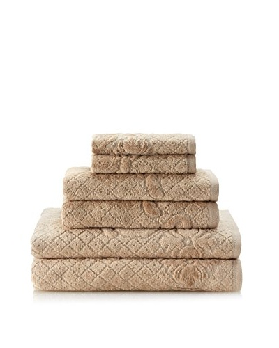 Espalma Brocade 6-Piece Towel Set, Taupe