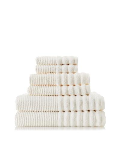 Espalma Boucle Rib 6-Piece Towel Set, Ivory