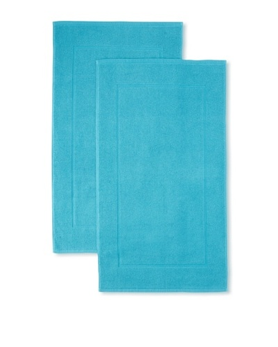 "Espalma Set of 2 Prestige Tub Mats, Peacock, 20"" x 32"""
