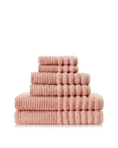 Espalma Boucle Rib 6-Piece Towel Set, Bisque