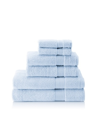 Espalma 6-Piece Signature Bath Towel Set, Waterblue