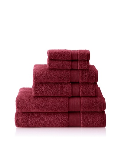Espalma 6-Piece Signature Bath Towel Set, Berry