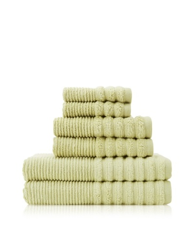 Espalma Boucle Rib 6-Piece Towel Set, Eucalyptus