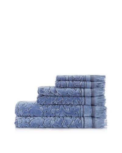 Espalma Baroque 6-Piece Towel Set, Stonewash