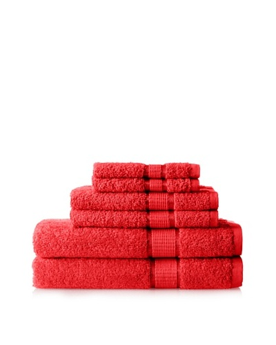 Espalma Ambassador 6-Piece Towel Set, Red