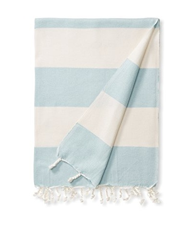 Esplama Turkish Towel Adana, Ivory/Seafoam