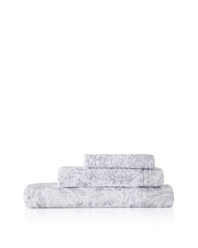 Esplama Art Deco 3-Piece Scroll Towel Set, Crystal