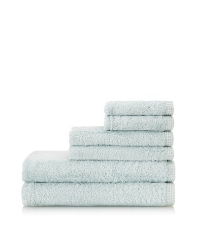 Esplama 6-Piece Bamboo Viscose Towel Set, Seaglass
