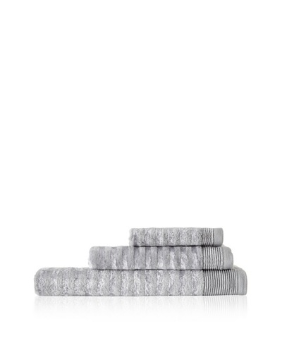 Esplama Art Déco 3-Piece Stripe Towel Set, Chrome