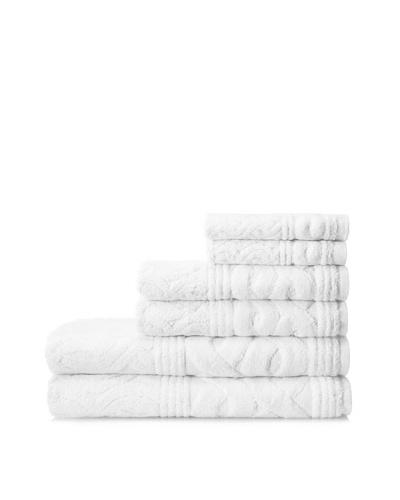 Esplama 6-Piece Chainlinks Towel Set, White