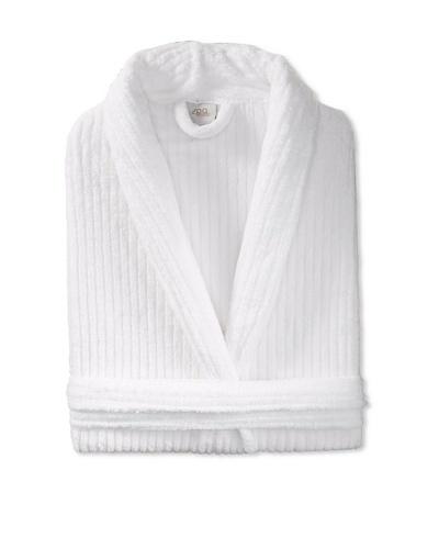Esplama Cuddle Rib Robe, White