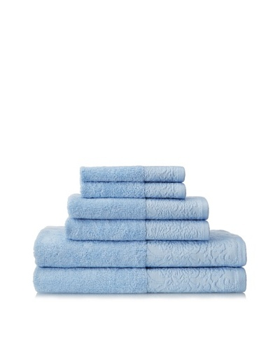 Espalma 6-Piece Jardin Bath Towel Set, Powder Blue