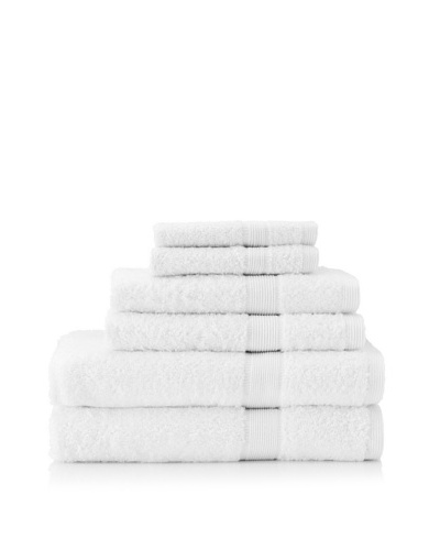 Esplama Set of 6 Egyptian Estate Towels, White