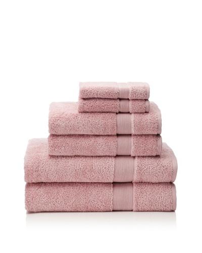 Esplama 6-Piece Signature Bath Towel Set, Rose