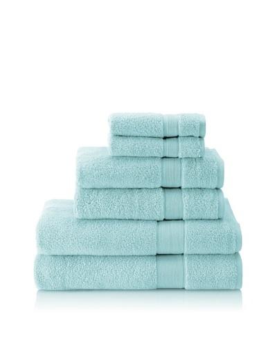 Esplama 6-Piece Signature Bath Towel Set, Aqua