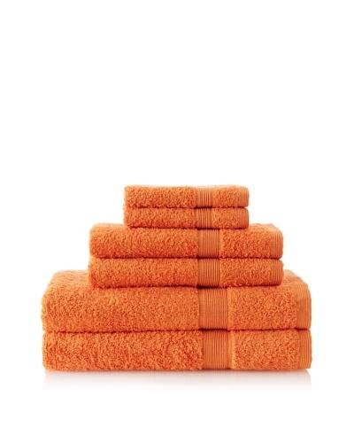 Esplama Set of 6 Egyptian Estate Towels, Orange