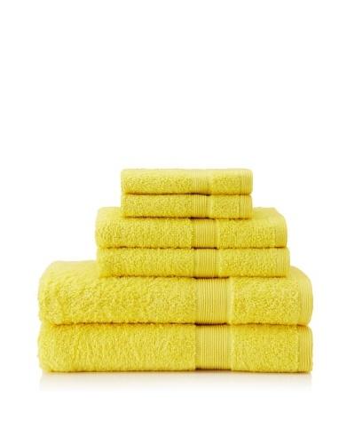 Esplama Set of 6 Egyptian Estate Towels, Canary