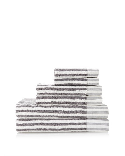 Esplama 6-Piece Country Road Stripes Towel Set