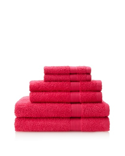 Esplama Set of 6 Egyptian Estate Towels, Fuschia