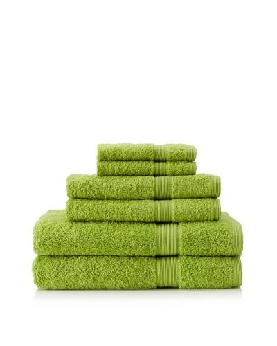 Esplama Set of 6 Egyptian Estate Towels, Limeaid