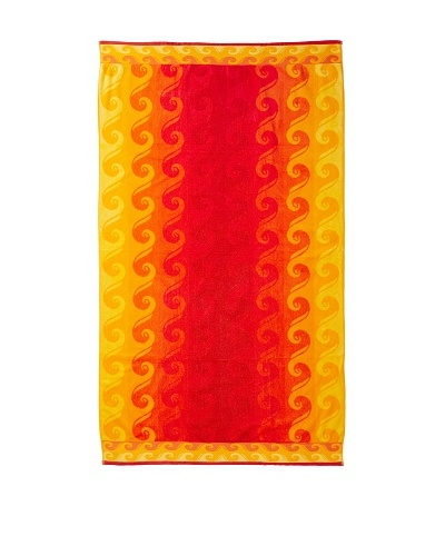 Esplama Surf Beach Towel, Hot Orange