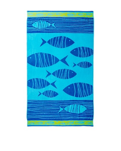 Esplama Follow Me Fish Beach Towel, Blue