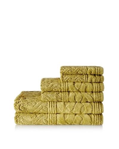 Esplama 6-Piece Chainlinks Towel Set, Deep Citron