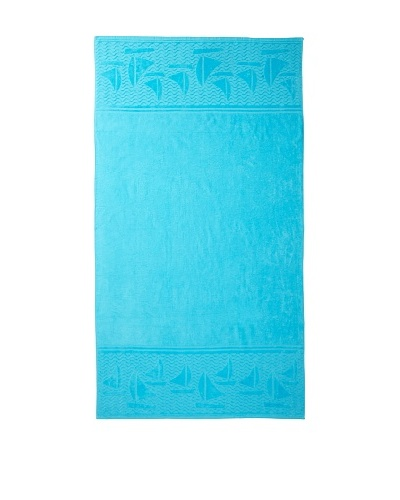 Esplama Aqua Sailboat Beach Towel, Aqua