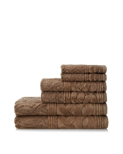 Esplama 6-Piece Chainlinks Towel Set, Stucco