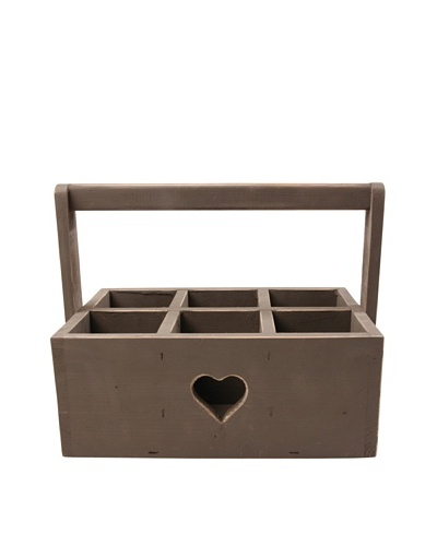 Esschert Design Farm Folklore Bottle Crate [Gray]
