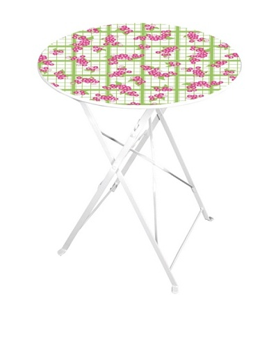 Esschert Design Tea Towel/Flower-Print Bistro Table, Multi