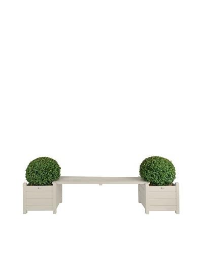 Esschert Design USA Planters with Bridge Bench