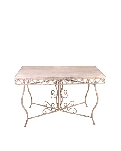 Esschert Design USA Large Aged Metal Rectangular Table