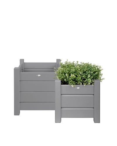 Esschert Design USA Set of 2 Square Planters