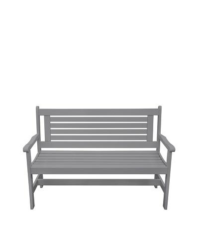 Esschert Design USA High-Back Bench, Grey