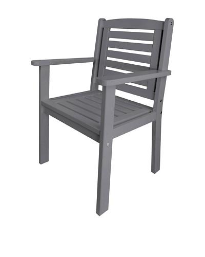 Esschert Design USA Arm Chair, Grey