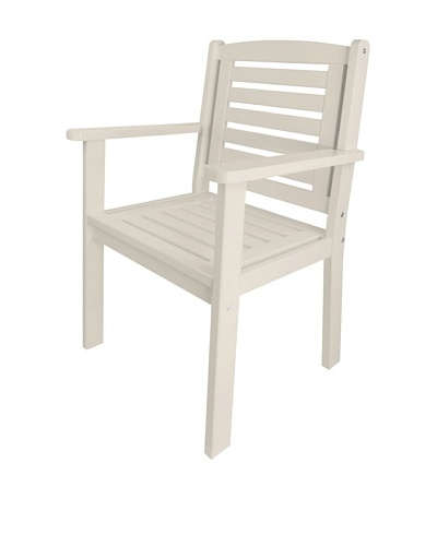 Esschert Design USA Arm Chair, White