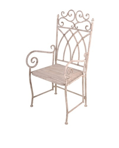 Esschert Design USA Aged Metal Carver Chair