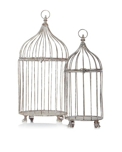 Esschert Design AM04 Aged Metal Birdcages, Set of 2