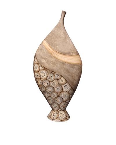 eUnique Home 36 Catawba Floor Vase, Tan