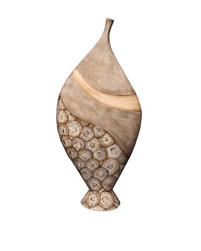 eUnique Home 42 Catawba Floor Vase, Tan