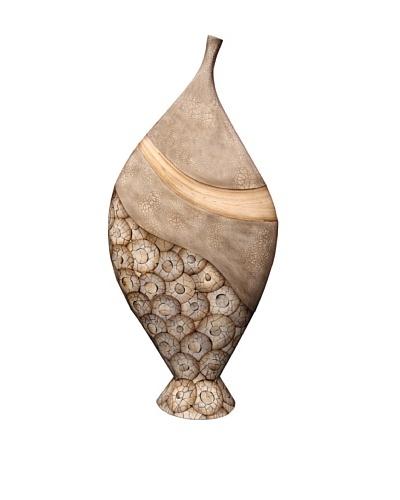 eUnique Home Catawba 59 Floor Vase, Tan