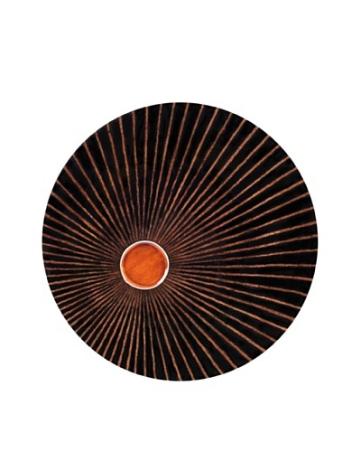 """eUnique Home 48"""" Africa Round Wall Charger, Brown/Tan"""