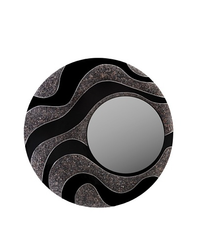 eUnique Home Mandan Black Mirror, Black