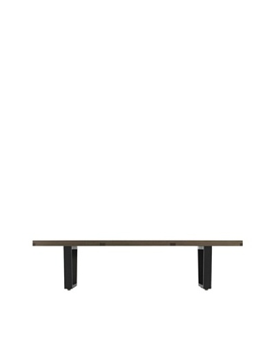 Euro Home Collection Slat Bench A, Walnut/Black