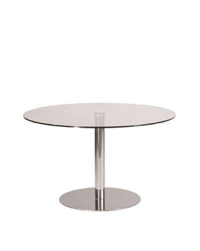 Euro Home Collection Kate Round Glass Top Table