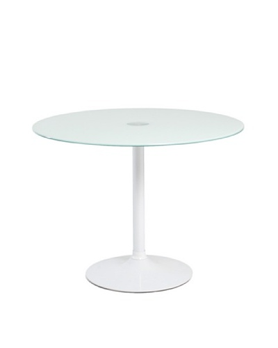 Euro Home Collection Elena Round Glass Top Table