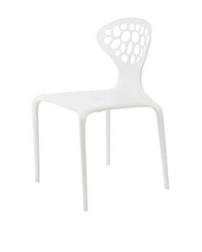 Euro Home Collection Lucy Chair, White