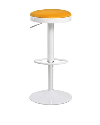 Euro Home Collection Carrie Adjustable Barstool, Orange